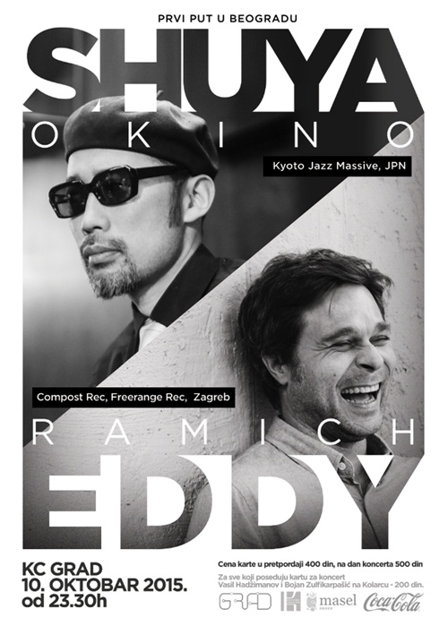 Shuya Okino (Kyoto Jazz Massiv) i Eddy Ramich after  party