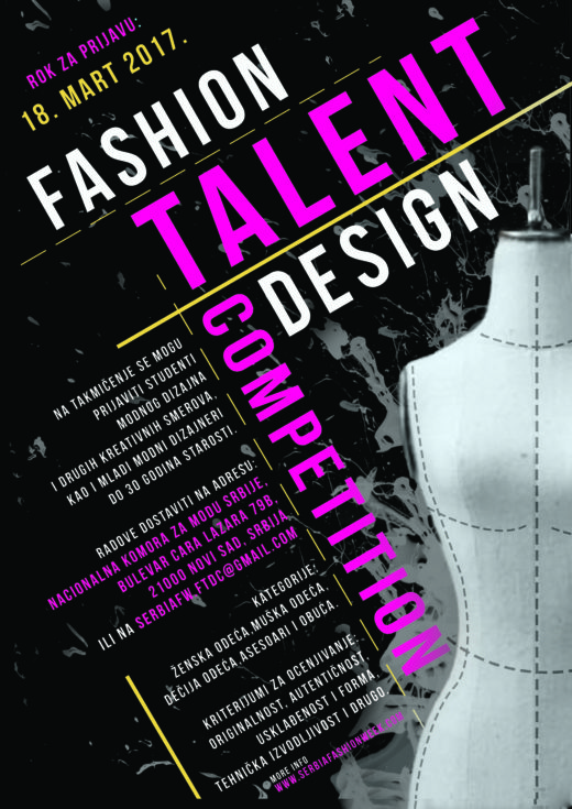Konkurišite za Fashion Talent Design Competition!
