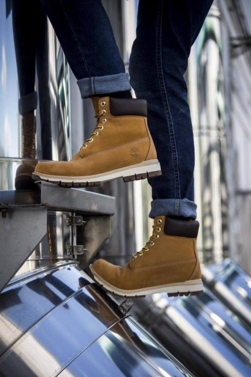 Timberland Yellow Boots Outfit